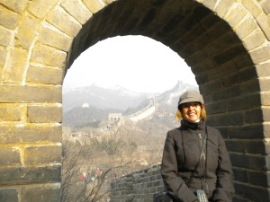 on the Great Wall in China