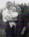 Mom and dad with first child, Paulette