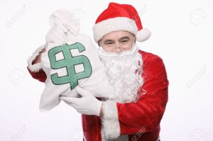 9957573-santa-claus-with-a-bag-of-money-stock-photo